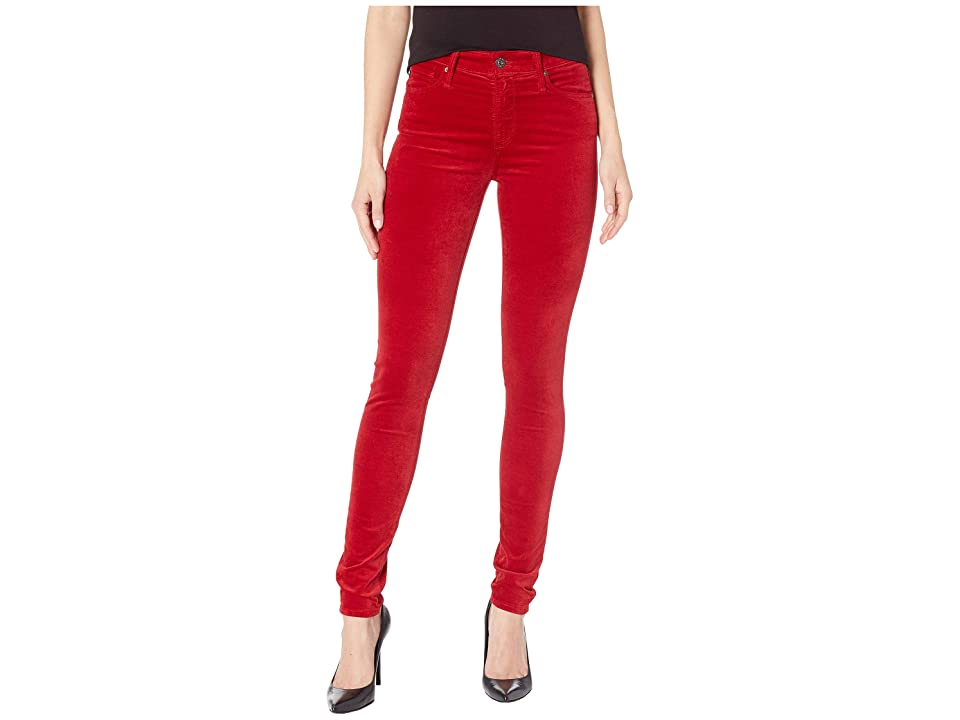 Image of AG Adriano Goldschmied Farrah Skinny in Red Amaryllis (Red Amaryllis) Women's Jeans