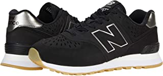 New Balance PerForated Side Stitched Logo Contrast Sole Lace up Sneakers For Women