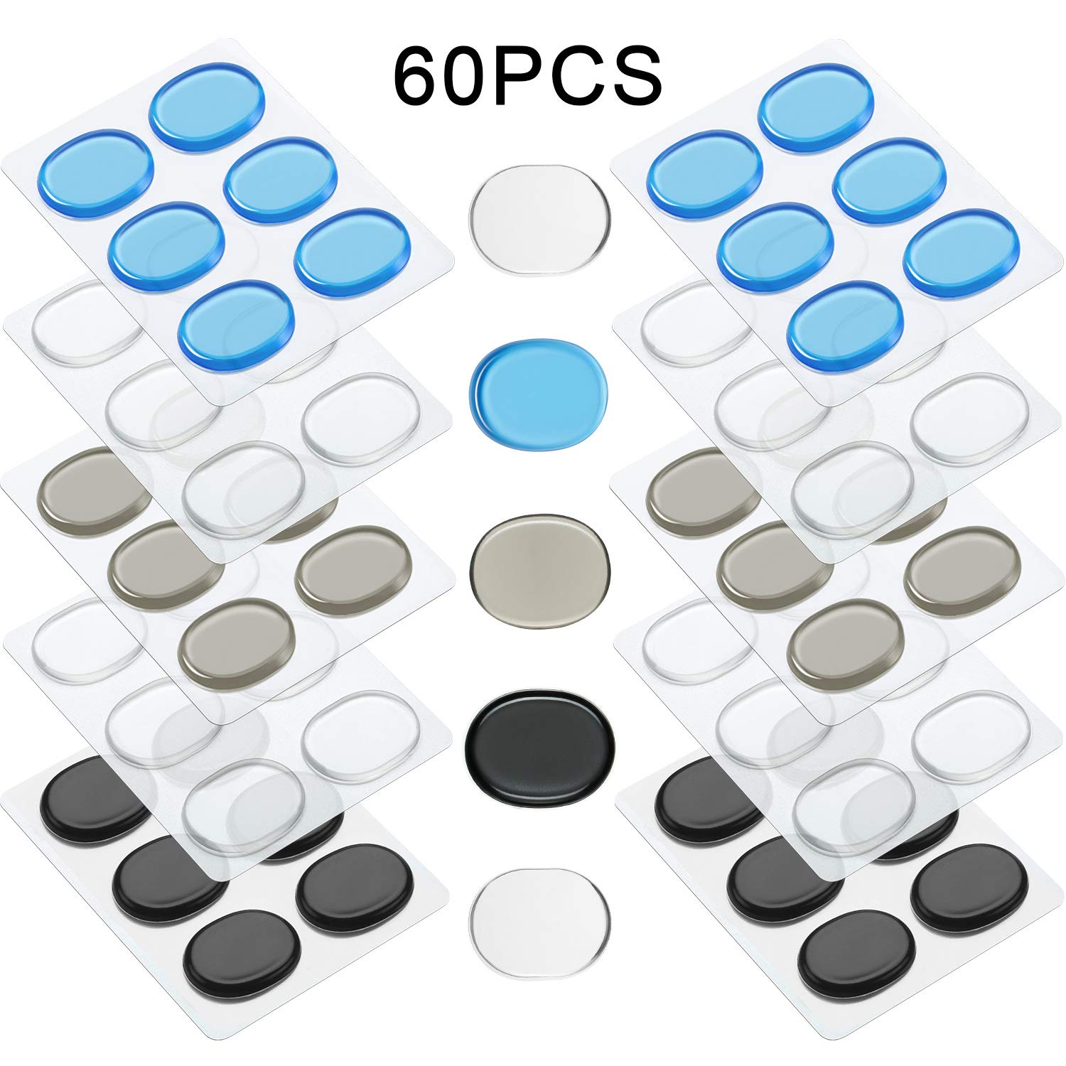 30 Pieces, Color Set 1 Drum Dampeners Gel Pads Silicone Drum Silencers Dampening Gel Pads Non-toxic Soft Drum Dampeners for Drums Tone Control