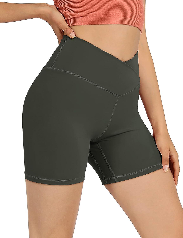 Max 58% OFF ODODOS Women's Mesa Mall Cross Waist Biker Pocket Shorts Sport Inner with