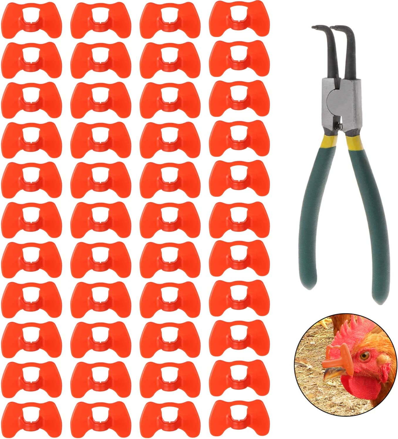 Lainrrew 41 Pcs Pinless Peepers with Set Poultry Charlotte Mall Pliers Genuine Blinder