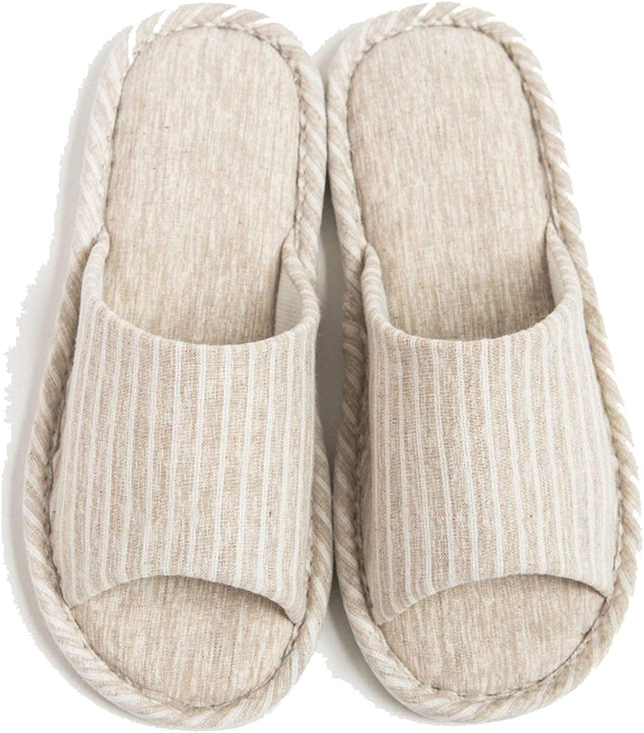 Spring Home Slippers Woman Indoor Flat shoes Style Unisex Floor Slides Casual Flax Slipper,