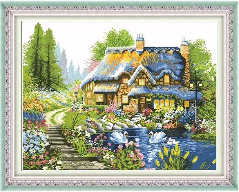 Dallas Mall Max 75% OFF Cross Stitch Stamped Kits Starter 11CT Embroidery C