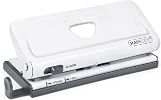 Rapesco Adjustable 6-Hole Organizer/Diary Punch, White (1321)