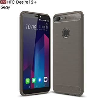 HTC Desire 12 Plus Case,TenYll TPU Soft Cover Case [Ultra Silm] [shockproof] [Durable] Silicone Cover for HTC Desire 12 Plus -Gray