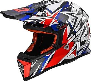 LS2 Casco de Moto MX437 mateiler r/ápido