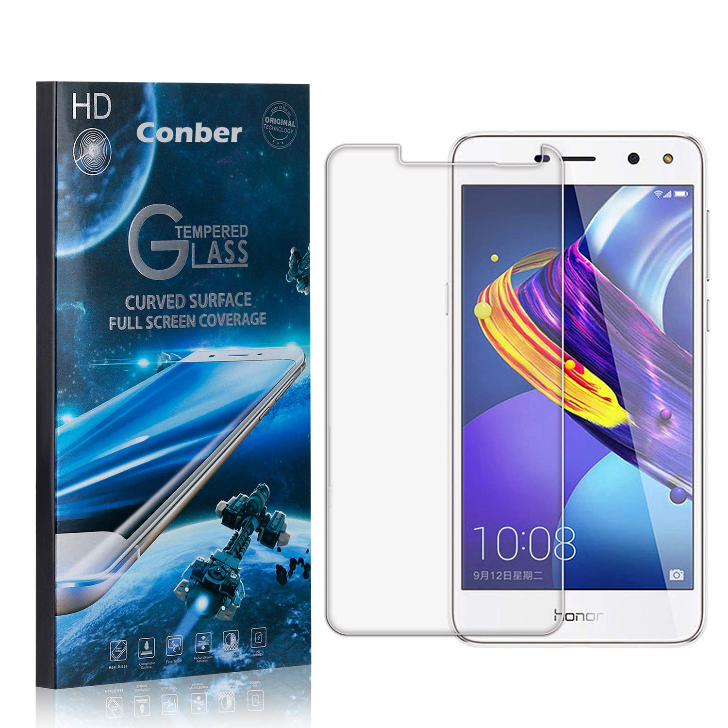 Conber 3 Pack Screen Protector for National uniform free shipping Tulsa Mall Scratch-Re 2017 Y6 Huawei