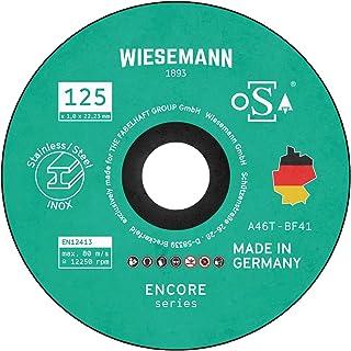 Säkerhetsskärskivor 125 x 1,0 mm för metall 20-pack jag tillverkad i Tyskland I för vinkelslip från WIESEMANN 1893 I för s...
