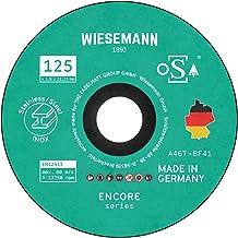 Bezpieczne tarcze tnące 125 x 1,0 mm do metalu zestaw 20 części I MADE IN GERMANY I Do szlifierki kątowej WIESEMANN 1893 I...