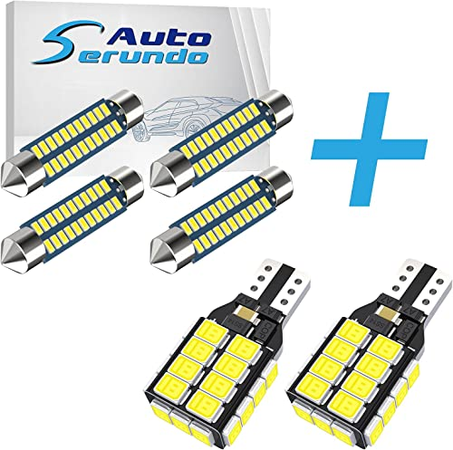wholesale Serundo Auto 4pcs 42mm 578 2021 LED Bulbs + 2pcs 912 921 LED online sale Backup Light Bulbs outlet online sale