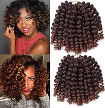 Crochet Braids Hair 2X Ringlet Wand Curl 3 Packs 8 inch Jamaican Bounce Havana Mambo Twist Braiding Hair (1B/30)