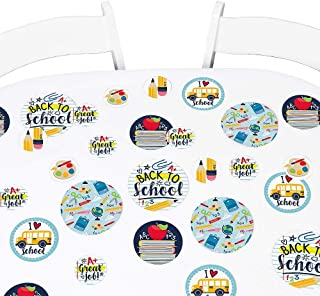 Big Dot of Happiness Back to School - First Day of School Classroom Giant Circle Confetti - Party Decorations - Large Confetti 27 Count