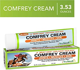 Terry Naturally Animal Health Comfrey Cream - 3.53 oz (100 g) - Topical Botanical for Horses and Dogs - Support for Joints...