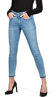 G-STAR RAW Dames Jeans Lynn Mid Waist Skinny Geribbeld Enkelbandje