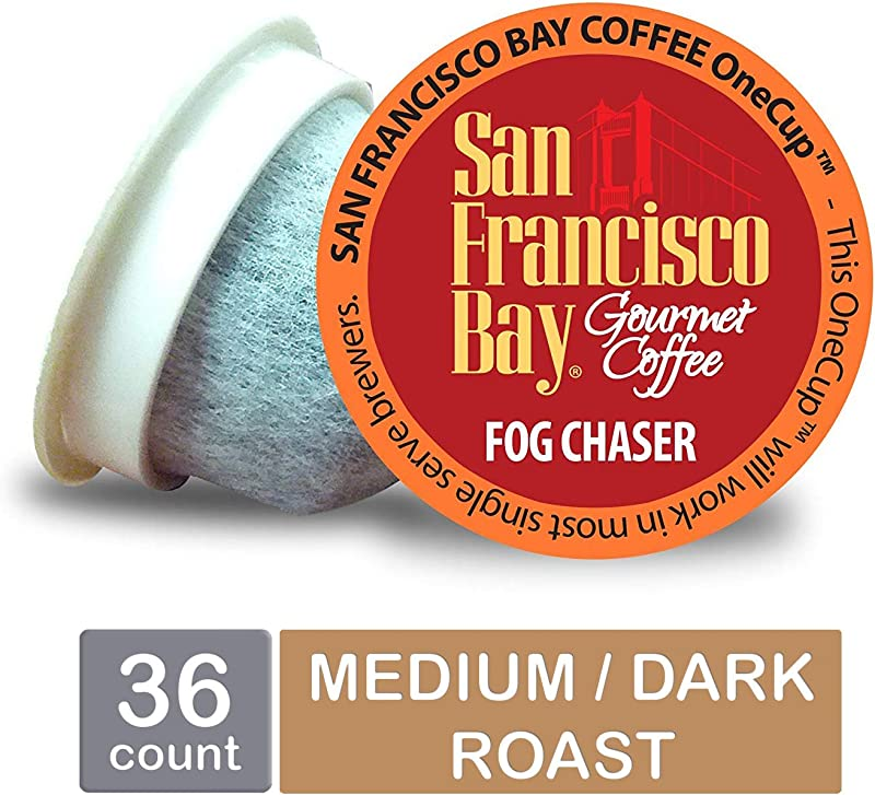 San Francisco Bay OneCup Fog Chaser Single Serve Coffee K Cup Pods 36 Count Keurig Compatible
