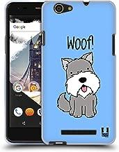 Head Case Designs Schnauzer Happy Puppies Soft Gel Case Compatible for Wileyfox Spark X