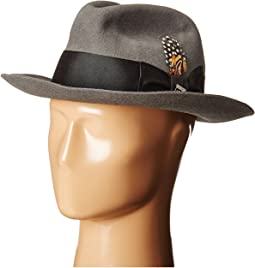Stacy Adams - Wool Felt Fedora w/ Grosgrain Band