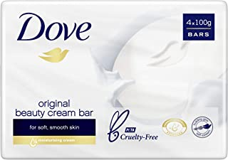 Dove Beauty Soap Bar Original Washes Away Bacteria, 4 x 100g