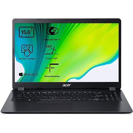 """Acer Aspire 3 A315-56 - Ordenador Portátil 15.6"""" Full HD, Laptop (Intel Core i3-1005G1, 8GB RAM, 512GB SSD, UMA Graphics, Windows 10 Home), PC Portátil Color Negro - Teclado QWERTY Español"""