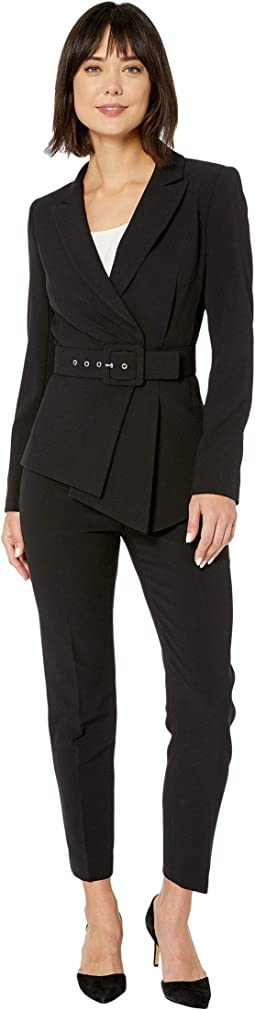 Belted Jacket and Pants Suit