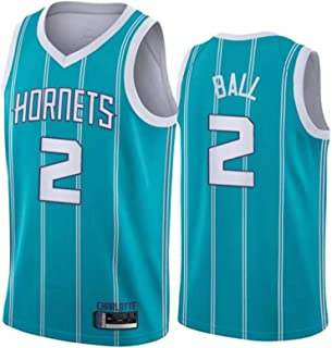 2 Basketball Jersey The Latest Basketball Fan Shirt Hornets Ball No for Training and Competition XXL B Polyester Mesh Mens Basketball Uniform