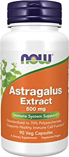 Now Foods - Astragalus Extract 500 Mg. 90 Vegetarian Capsules