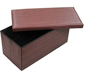 GMMH Taburete Taburete Original 76 x 38 x 38 cm Caja Caja de Almacenamiento Cubo-Asiento Aparador Escabel reposapies Banc...