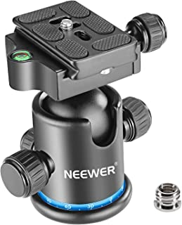 Neewer Pro Metal Tripod Ball Head 360 Degree Rotating Panoramic with 1/4 inch Quick Shoe Plate, Bubble Level for Tripod,Mo...