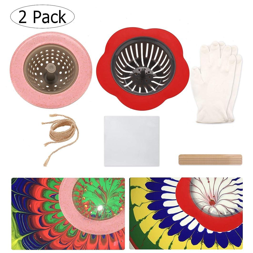 Pour Painting Strainer Fluid Paint Pouring Artist Supplies Kits Acrylic Paint Strainer Set Creating Unique Patterns and Designs Flower Drain Basket Strainer(2 Pack)
