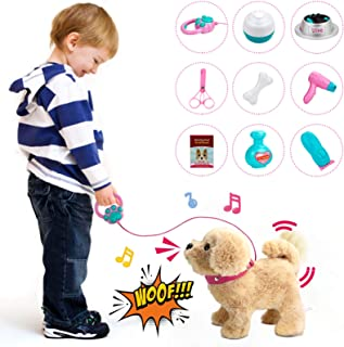 Forty4 Plush Electronic Dog, StuffedPuppyDog with Remote Control Leash, Interactive Companion Dog Toy, Realistic Pet Dog...