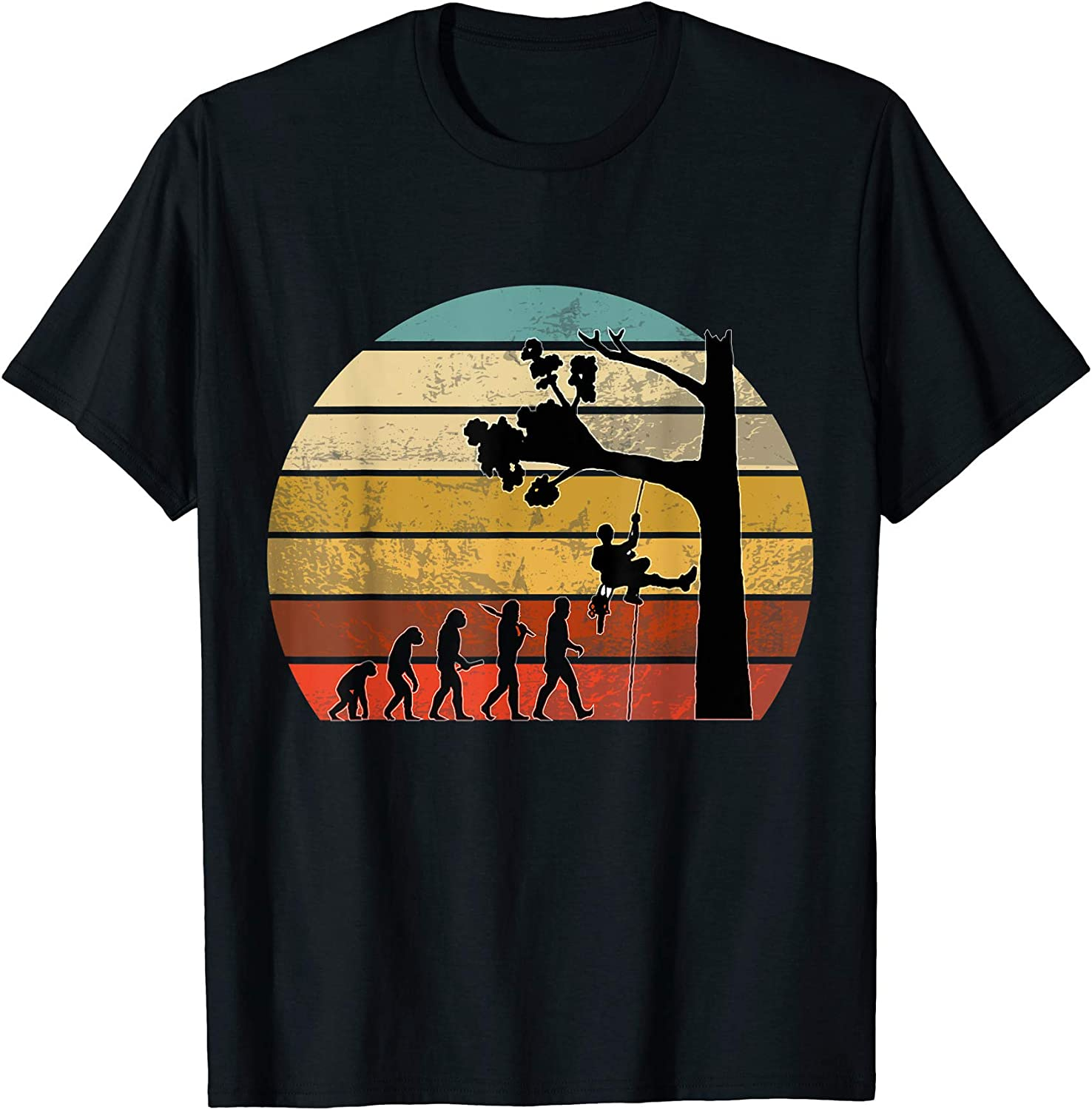 Mens TREE SURGEON EVOLUTION T Shirt Tshirt Gift Clothing