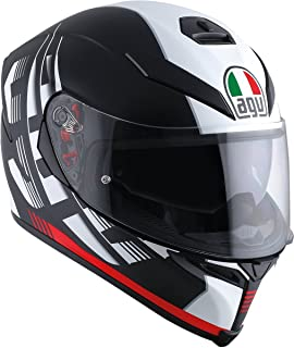AGV K-5 Unisex-Adult Full-Face-Helmet-Style Storm Helmet (Black/Red, Medium-Small)