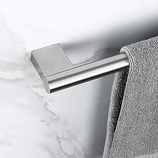 KOKOSIRI 24インチ シングルタオルバー バスルームキッチン用 SUS304 ステンレススチール タオルラック 壁マウントタオルホルダー つや消しニッケル B4002BR-L24