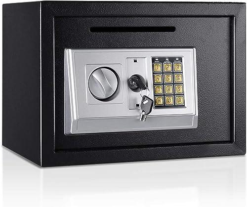 "popular Giantex outlet online sale 14"" Digital Depository Drop Gun Jewelry online Home Hotel Lock Cash Safe Box (Black) sale"