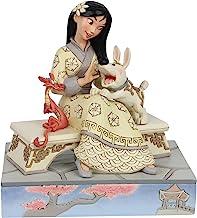 Enesco Disney Traditions by Jim Shore White Woodland Mulan Sitting Figurine, 5.5 Inch, Multicolor