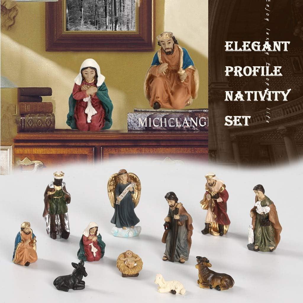 Holy Family Nativity Scene Decoration 11 Pieces Set Tomsi Christmas Nativity Set A