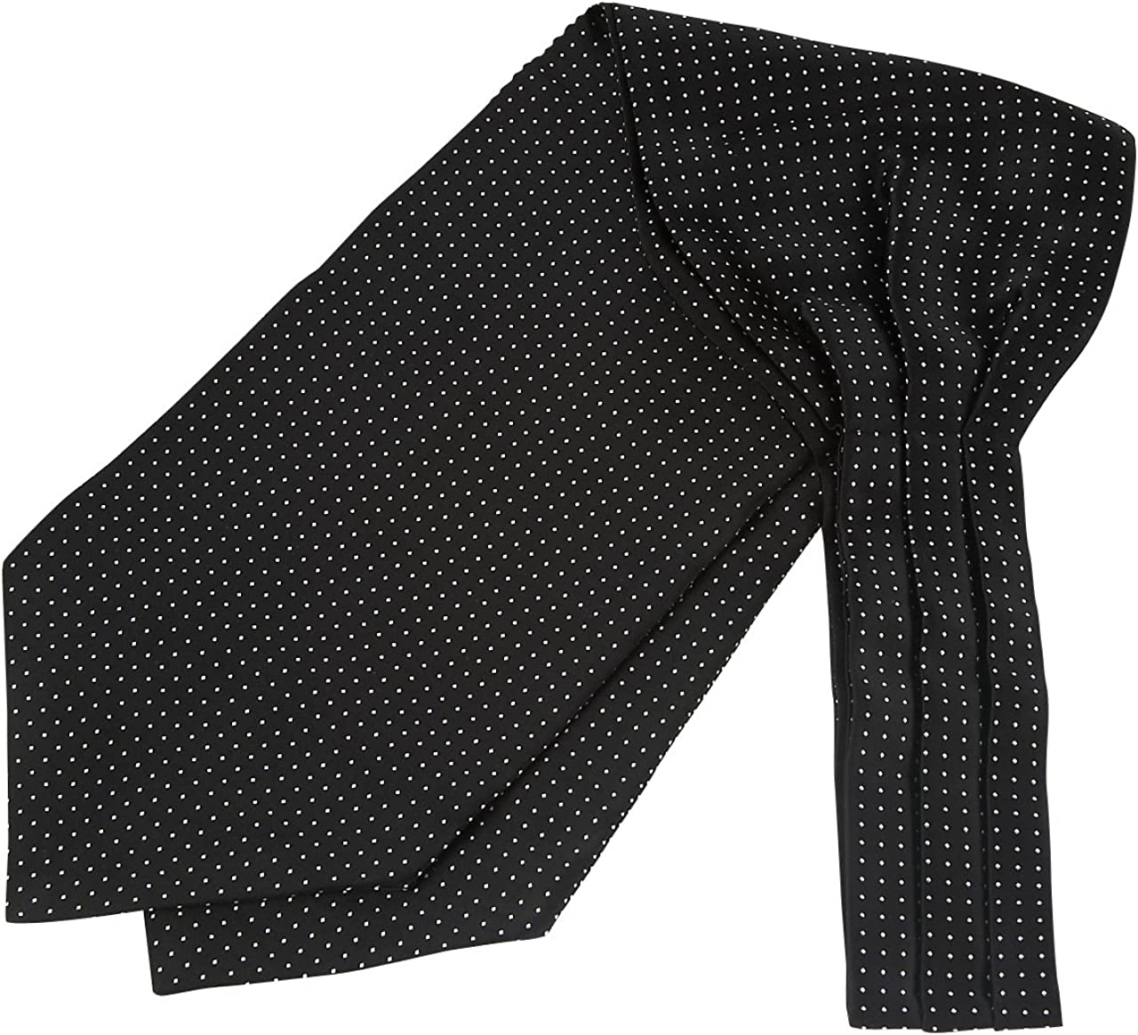 Ozie [Ascot Tie and Pocket Square Set] Made in Japan Black