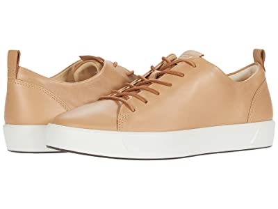 ECCO Soft 8 Dri-Tan LX Sneaker (Latte Calf Leather) Women