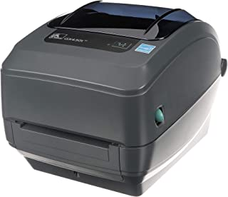 Zebra - GX430t Thermal Transfer Desktop Printer for labels, Receipts, Barcodes, Tags, and Wrist Bands - Print Width of 4 in - USB, Serial, Parallel, and Ethernet Connectivity - GX43-102410-000