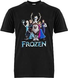 FMstyles - Disney Frozen Black Adult Unisex Tshirt - FMS635 - MEDIUM