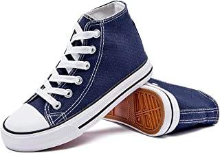 Boys Girls High Top Canvas Sneaker Shoes Lace-up Canvas Casual Sneakers