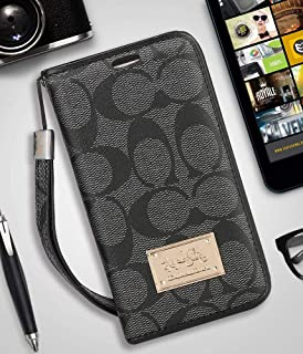 iPhone 7Plus/8Plus Wallet Case - Luxury Elegant PU Leather Monogram Classic Style Cover Compatible with iPhone 7Plus Or iPhone8 Plus(iPhone 7Plus/8Plus,Black)