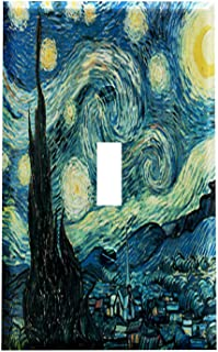 Vincent Van Gogh Artwork Starry Night Switchplate - Switch Plate Cover 1 Toggle Wall Decor