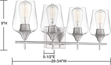 """Savoy House 8-4030-4-SN Octave 4-Light Bathroom Vanity Light in a Satin Nickel Finish with Clear Glass (29"""" W x 9"""" H)"""