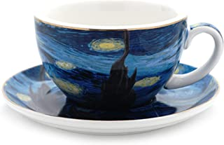 Havitar VAN Gogh bone china teacup and saucer set (Starry sky)