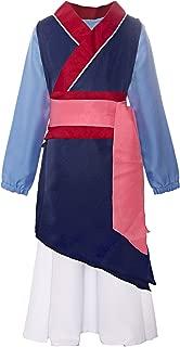 ReliBeauty Big Girls Heroine Mulan Costume Three-Piece Dress up