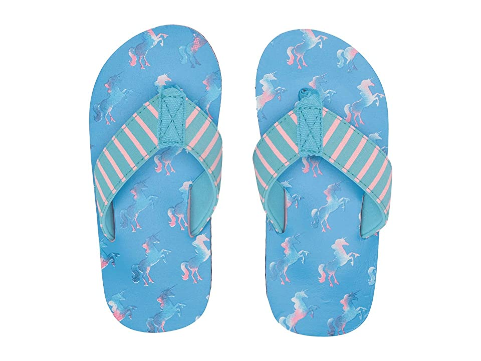 Hatley Kids Limited Edition Flip-Flop (Toddler/Little Kid) (Rainbow Unicorns) Girl