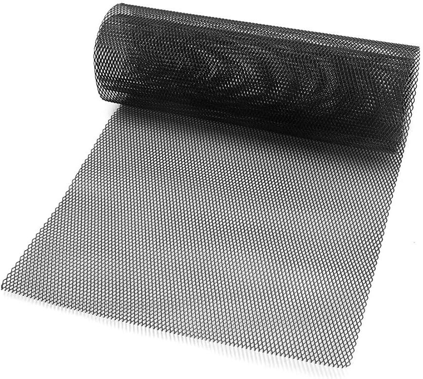 PoeHXtyy Aleación de Aluminio Rejilla de Coche Malla 40 x 13 Pulgadas Rejilla de Coche Malla Hoja Rómbico Parrilla Agujero de Malla