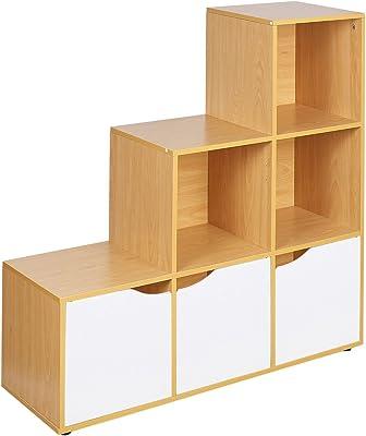 VASAGLE Estantería para Libros con 5 Compartimientos, Color Roble ...