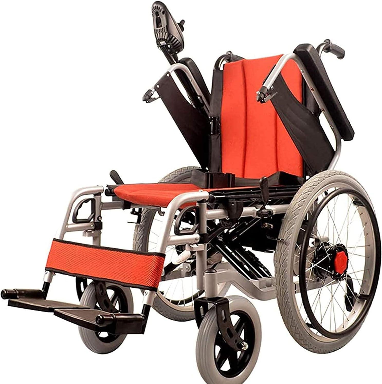 Electric Omaha Mall Wheelchair Flashlight Easy-to-Fold Dual-Use Over item handling ☆ Universa